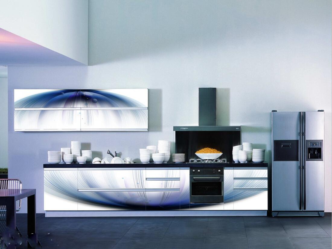 China Cheapest 3D Glass Kitchen Cabinet - China Furniture, Kitchen ...