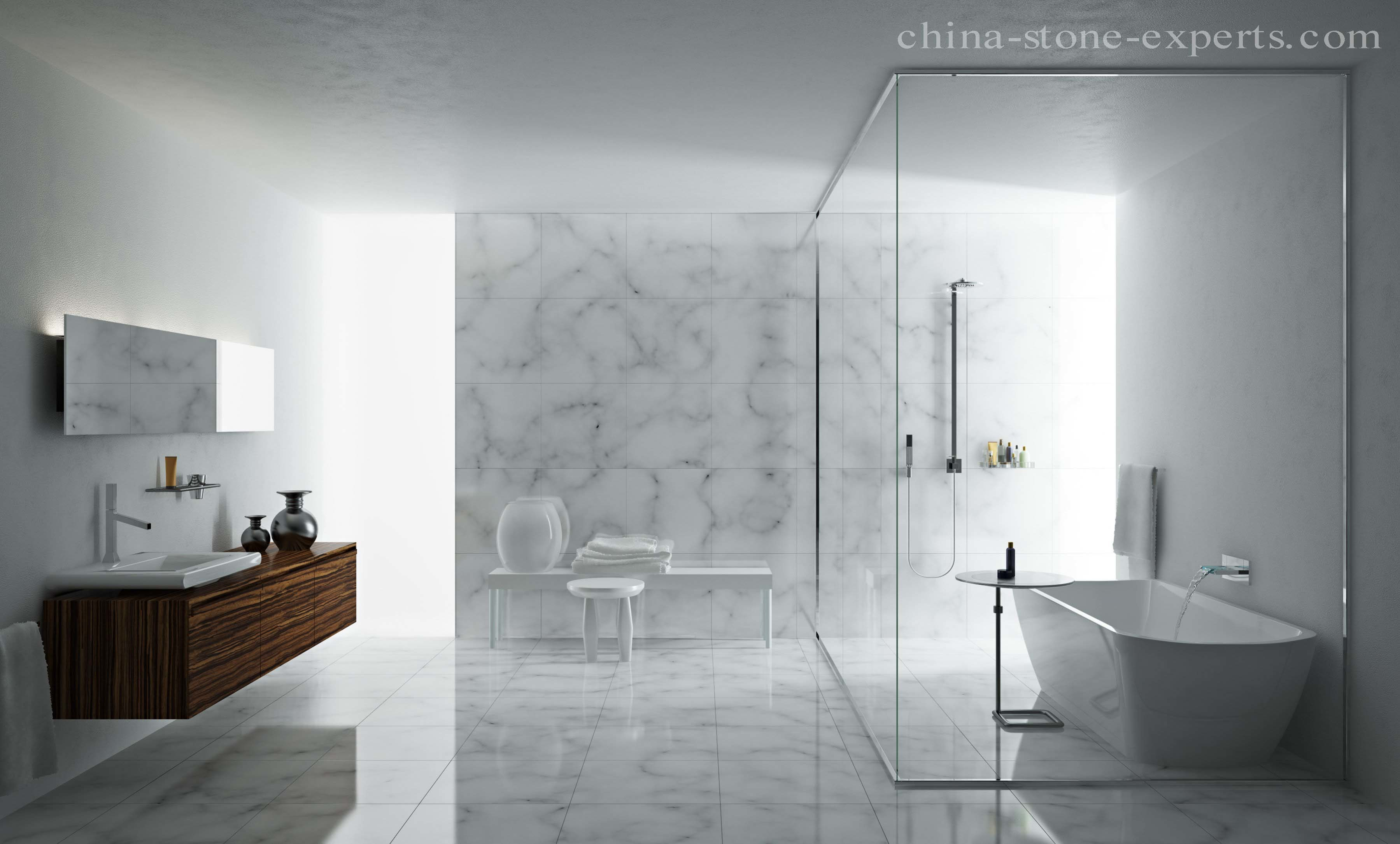 China Cheap White Natural Stone Marble Floor Tile/ Marble Wall Tile ...