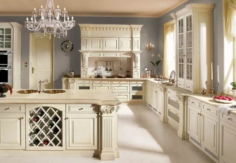 Kitchen Cabinet Solid Wood, French White Kitchen Cabinets