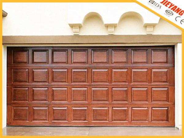 China Blocks Style Wooden Color Garage Door