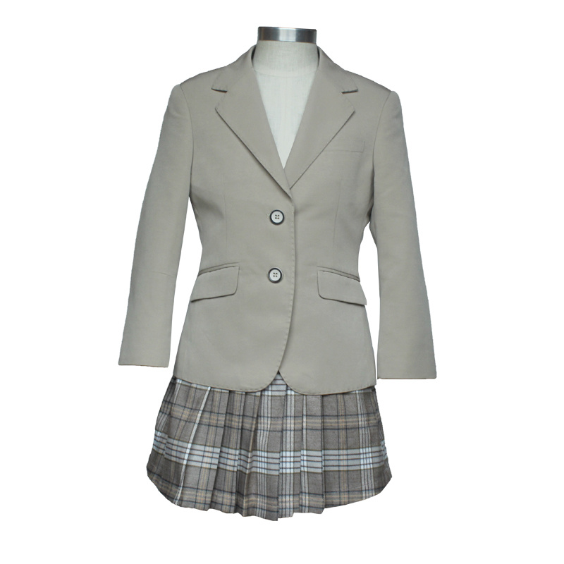 1378b23142 China Japanese Style School Girls Uniform Pleated Plaid Skirts - China School  Uniform Skirt, Primary School Uniform