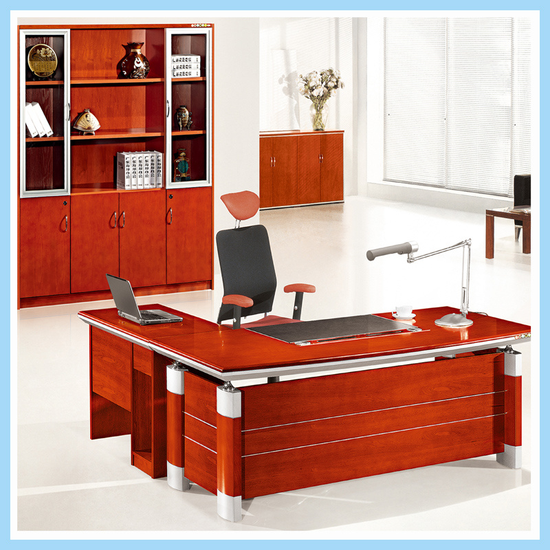 China Affordable Office Desk Boss Executive Manager Staff With Locking Drawers Table