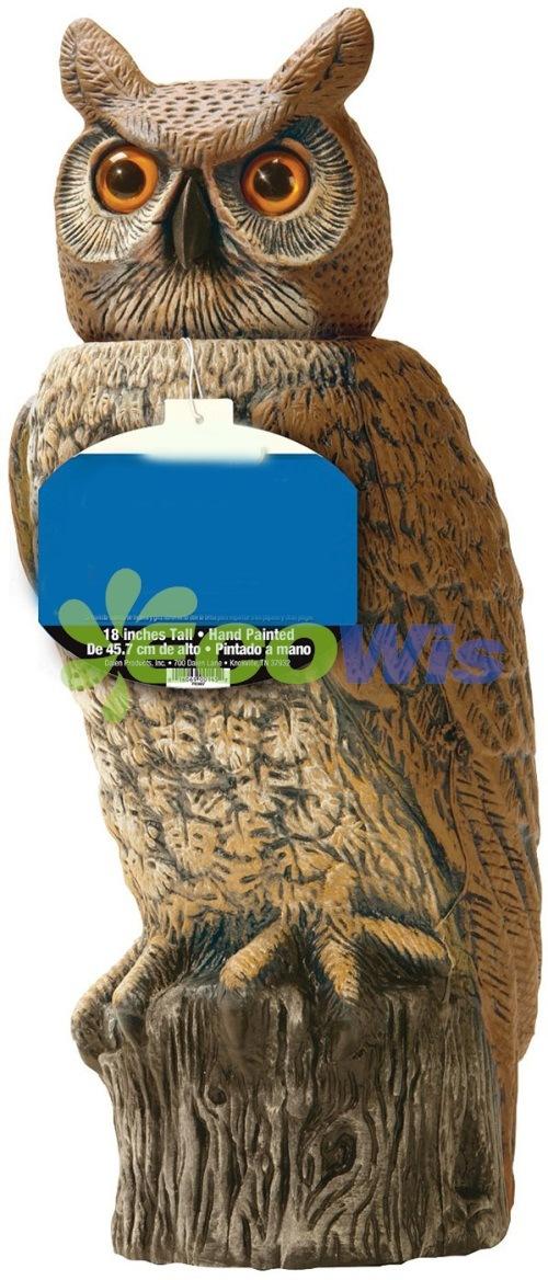 China Garden Owl Statue Scare Birds   China Prowler Owl Bird Repeller,  Decoy Owls Scare Birds Away