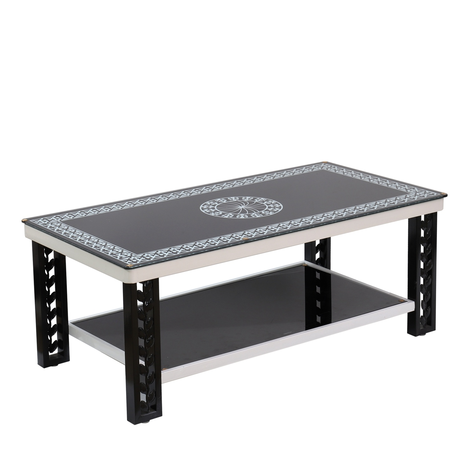 - China Tempered Glass Coffee Table Aluminum Leg New Design Brushed