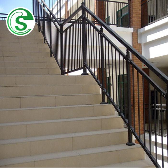 Hot Item Elegant Home Stair Railing Design Wrought Iron Balcony Grill Balustrade
