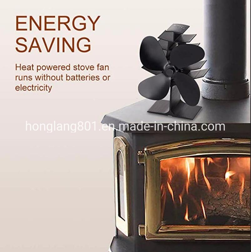 China Ecofan Heat Powered Wood Stove Fan Black Nickel Gold Hl 700c China Heat Powered Stove Fan Selfpowered Stove Fan