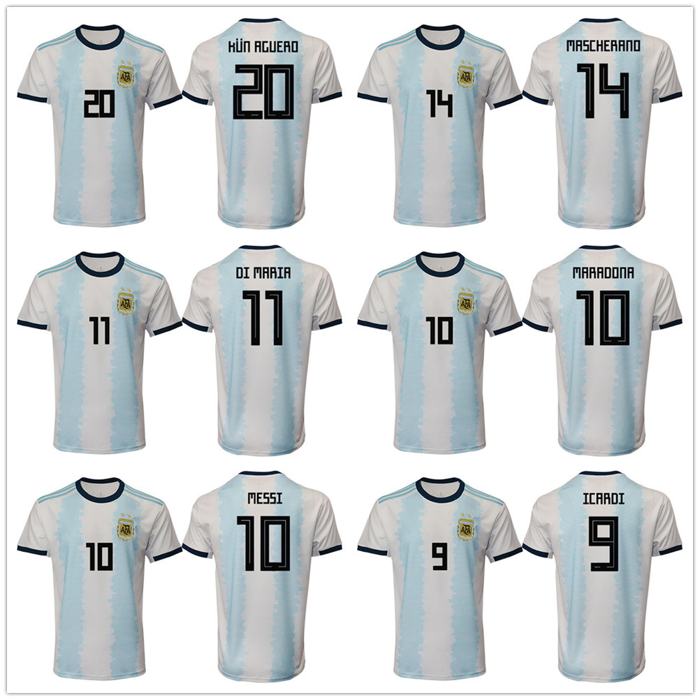 best service 84df8 1d2be China Argentina National Team 2019 Home Authentic Football ...