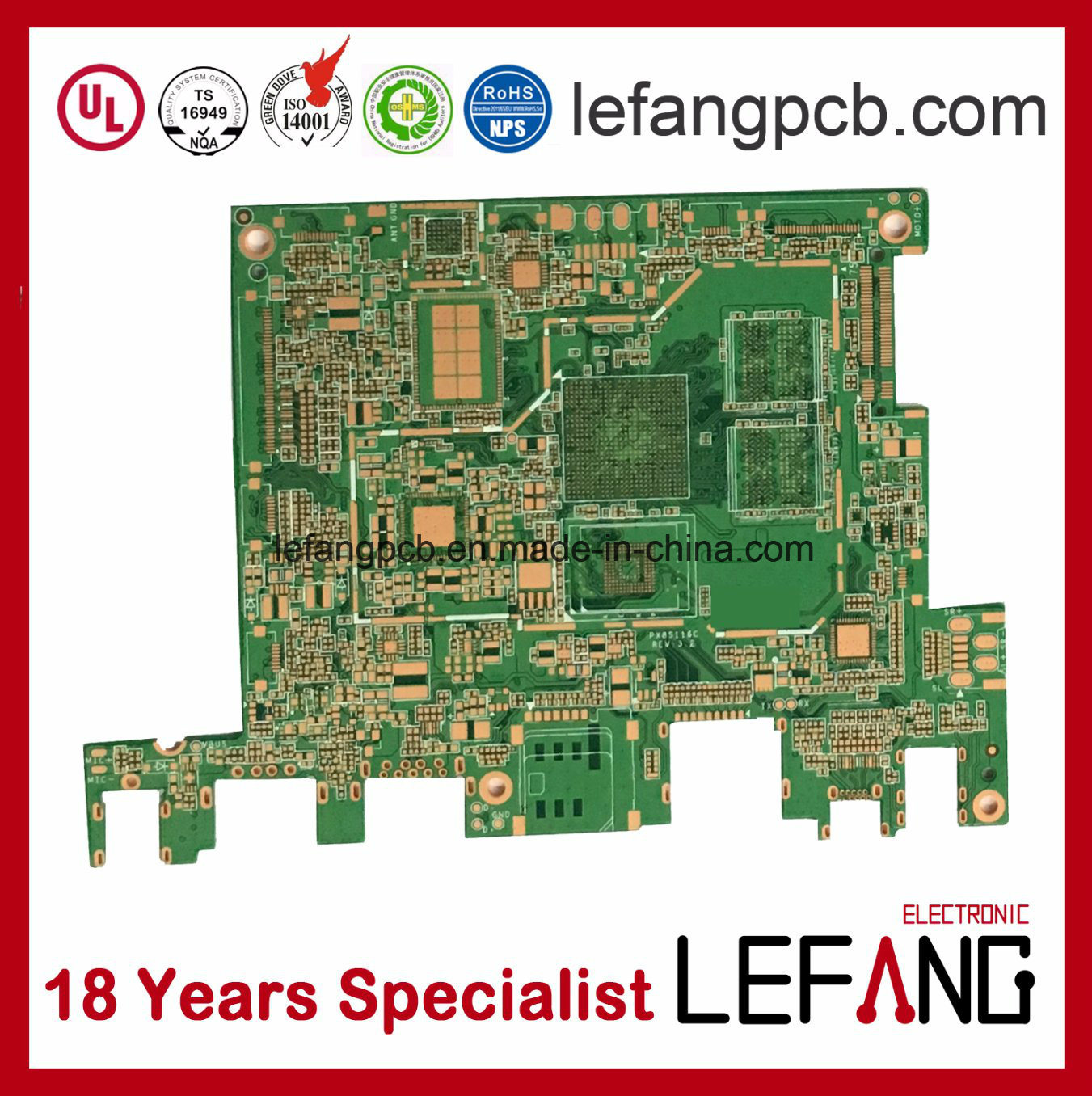 China Multilayer 10mm 6l Osp V0 Medical Devices Pcb Circuit Board Images Printed Pcba