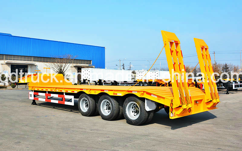60 Tons lowbed, Tri-Axle Heavy Duty low boy trailers pictures & photos