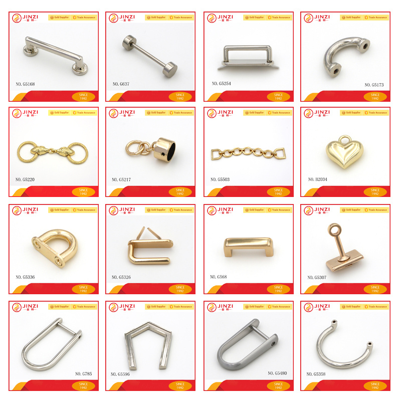Handbag Metal Hardware Zinc Alloy End Caps Accessories