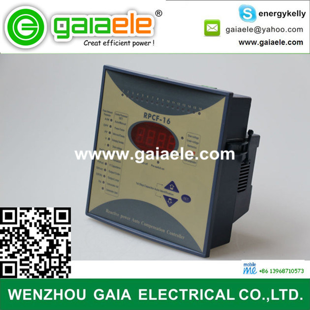 [Hot Item] Rpcf Series Reactive Power Auto Compensation Controller with 6  Steps 12 Steps 16 Steps Wenzhou Gaia Electrical Co Ltd