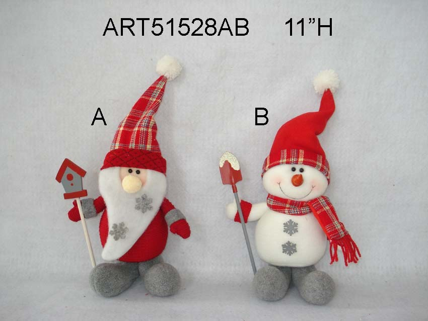 Snowman and Santa Christmas Decoration Gift Craft-2asst
