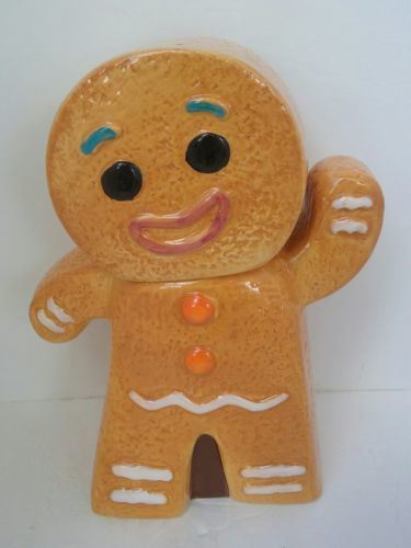 China Ceramic Gingerbread Man Cookie Jar Christmas Gingy