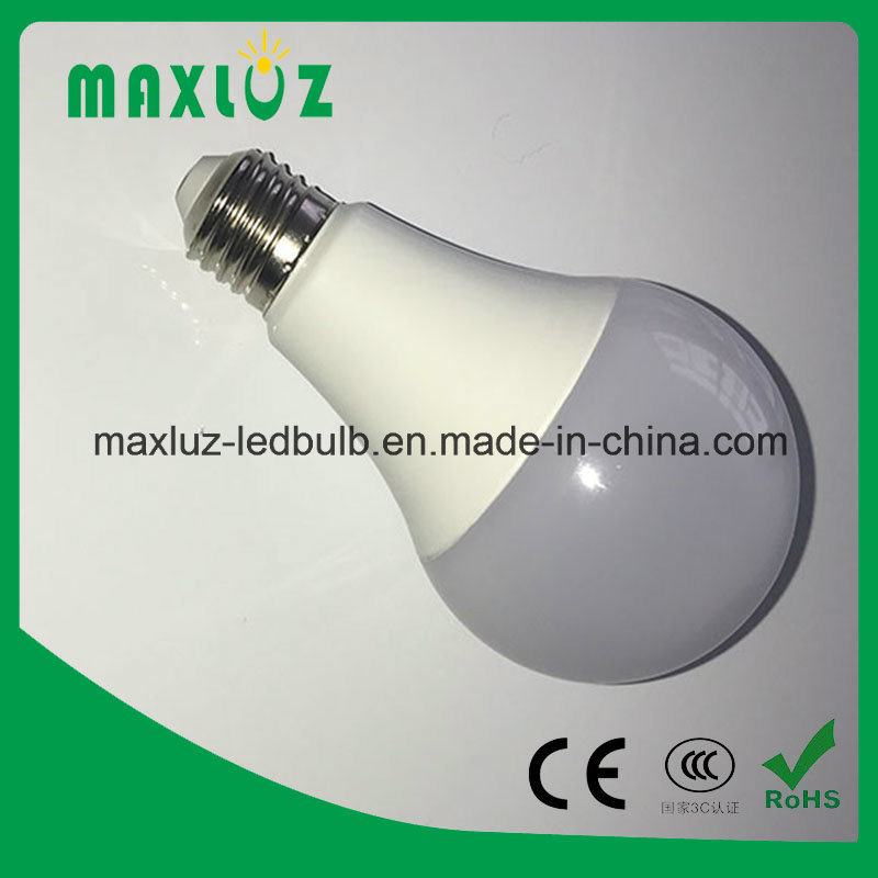 Plastic+Aluminum E27 9W LED Home Bulb Light with 85-265V