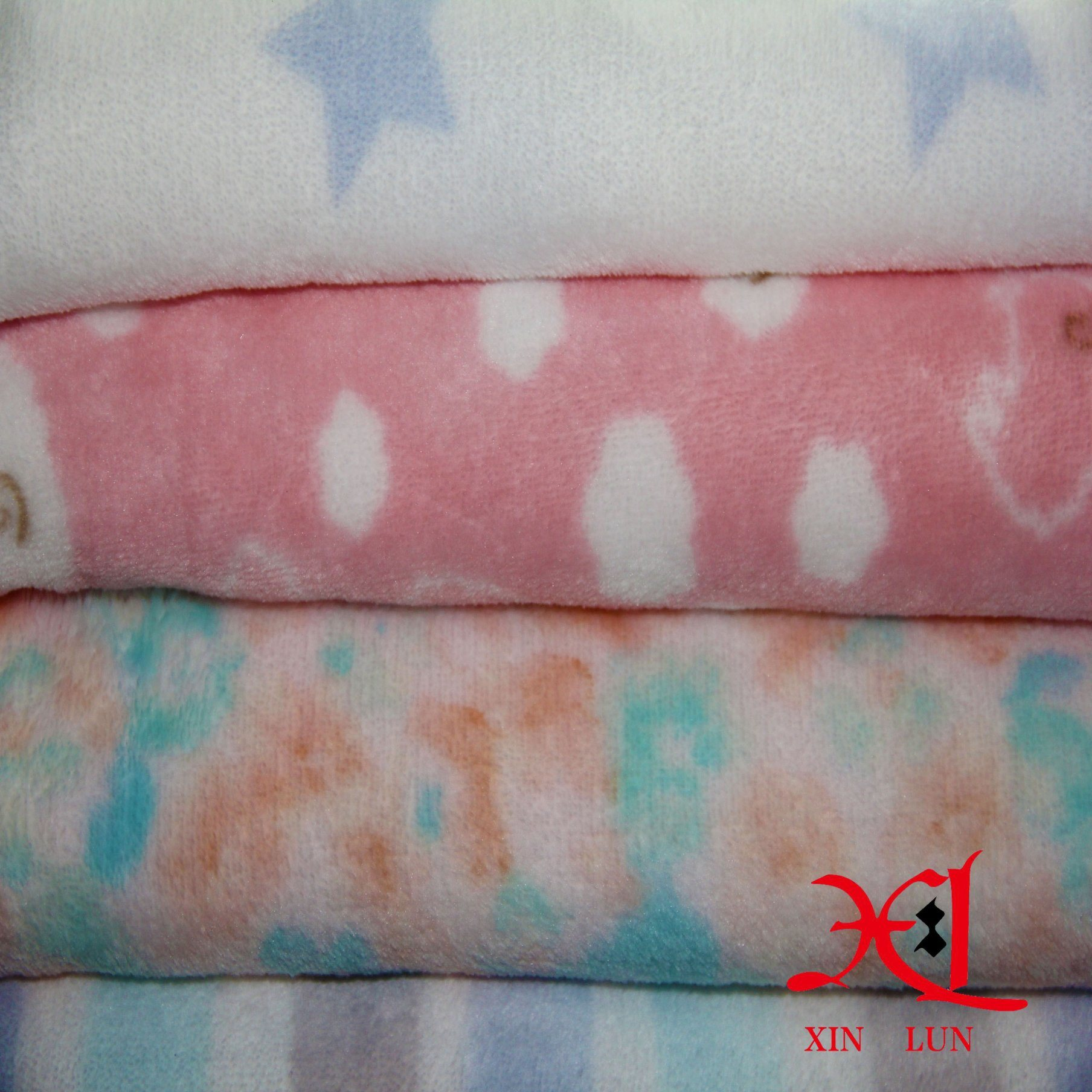 Printing Double-Sided Coral Flannel Pajamas Home Clothes Fabrics