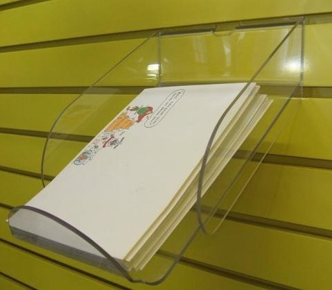 Customized Ad-180 Acrylic Clear Sign Menu Brochure Holder