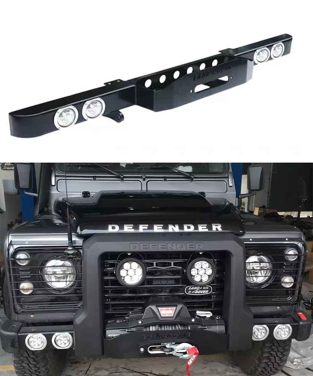 Winch Bumper With Led Lights By Rovers North For Discovery: China Landrover Defender 90/110 Off Road Bar With Winch