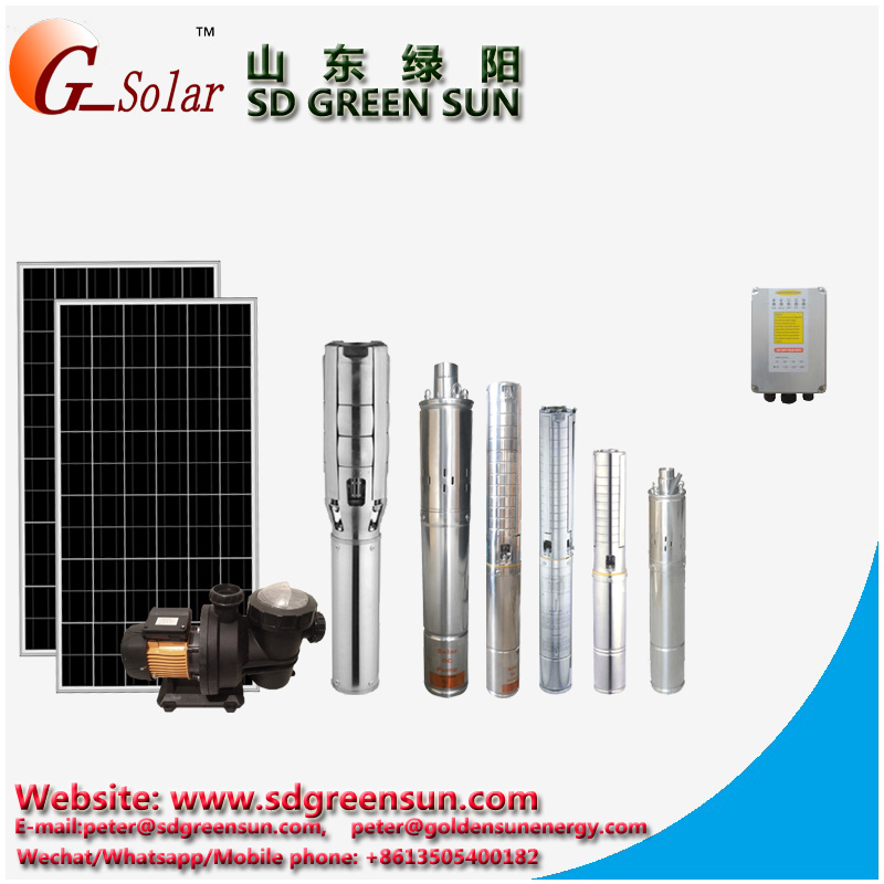 "3"" Solar DC Solar Submersible Water Pump"