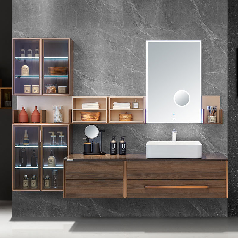 China Oppein New Design Modern Wooden, Real Wood Bathroom Furniture