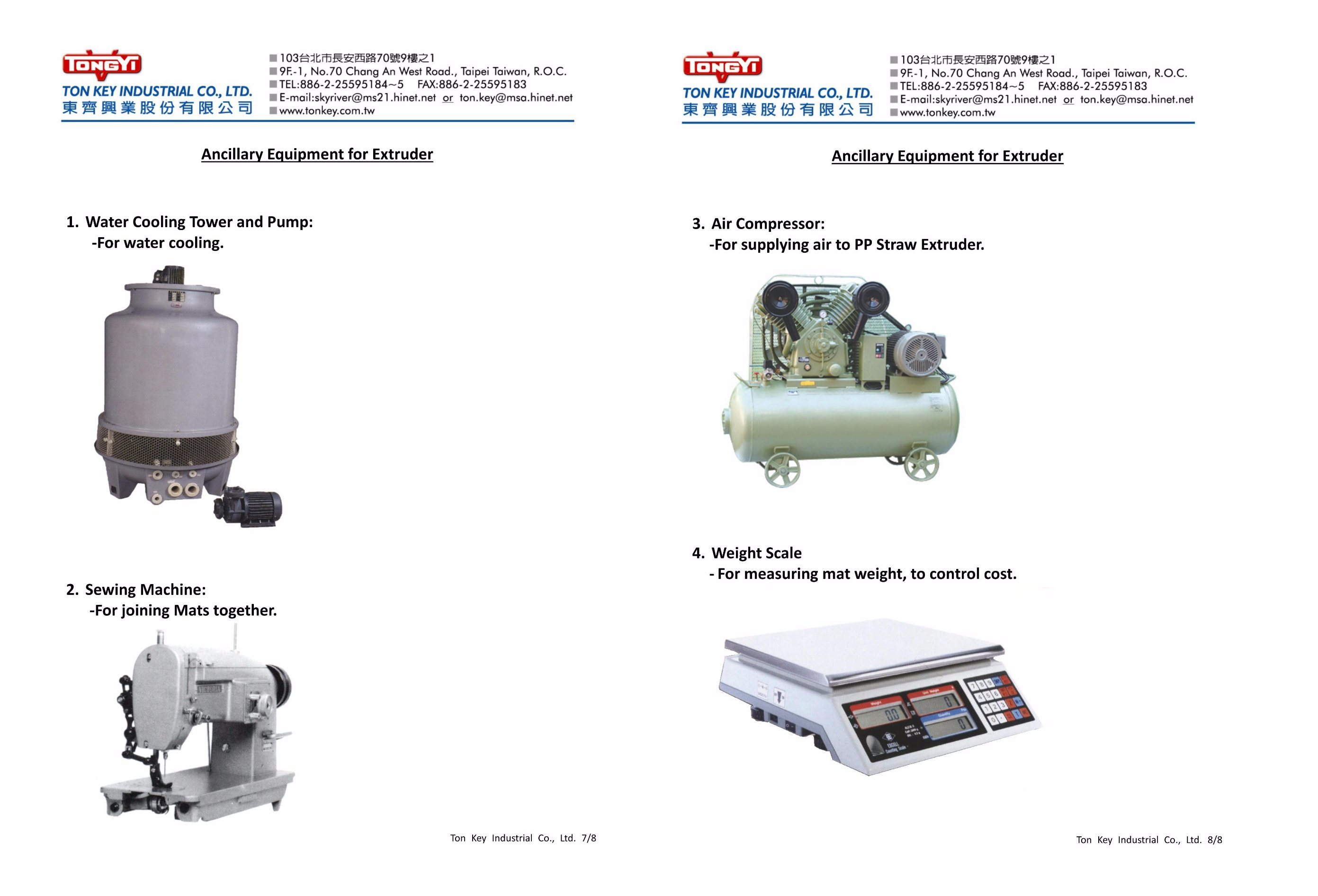 Catalogue of PP Woven Mat Machinery pictures & photos