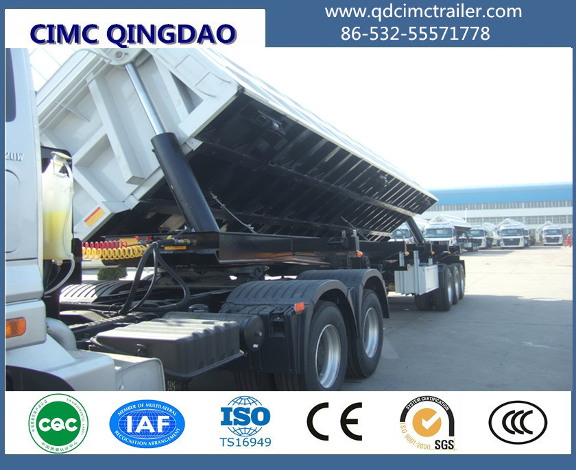 Supply Cimc 3-Axle Tipping Tipper Semi Trailer