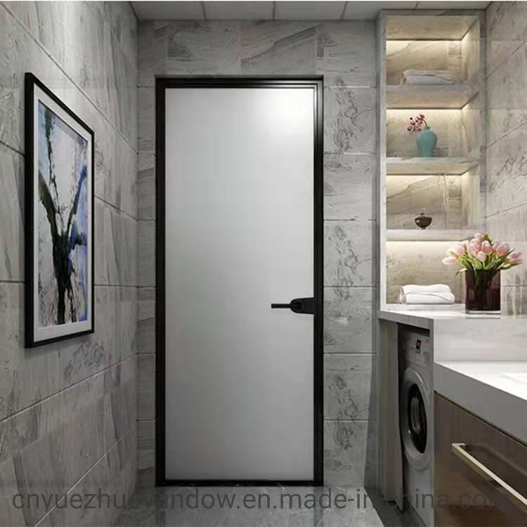 Aluminium Frosted Glass Bathroom Door, Glass Door Bathroom