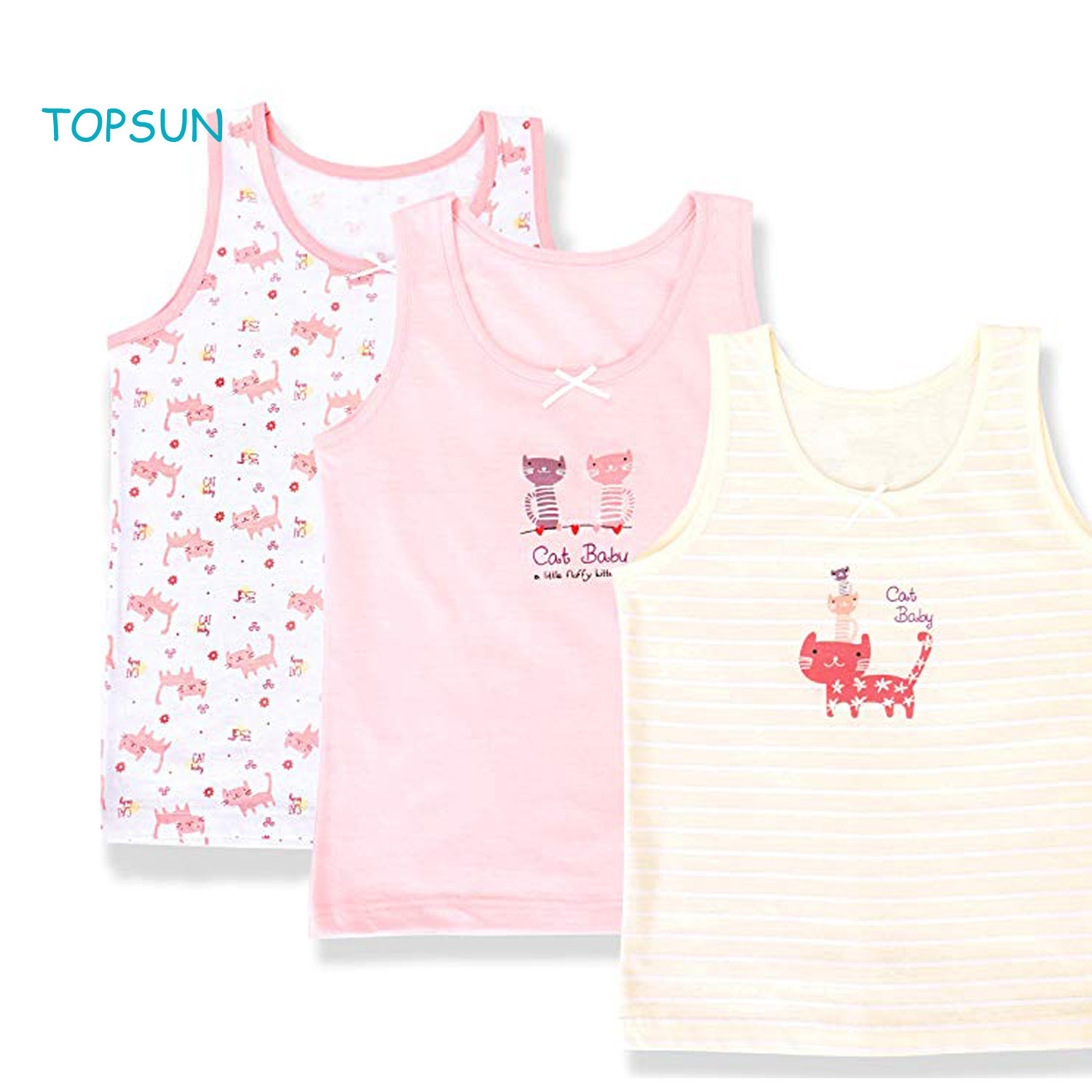 China Summer Sleeveless Cotton 100% Toddler Baby Girls Undershirts Underwear  3 Pack - China Baby Products and Baby Clothes price