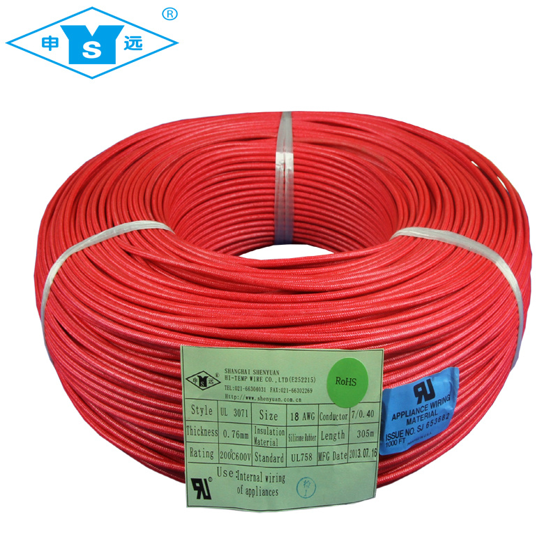 China High Temperature 200deg C Silicone Braided Cable Wire - China ...