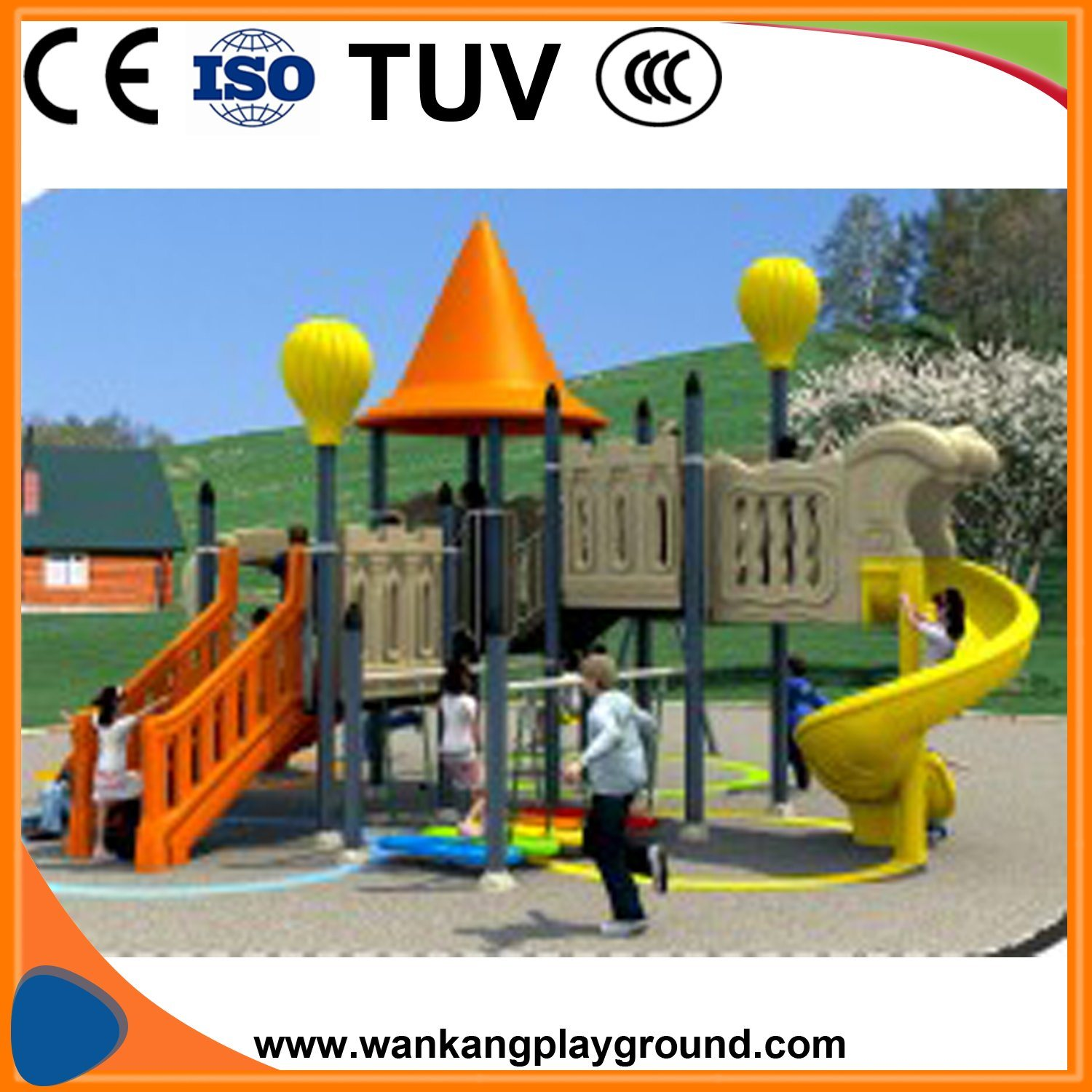 Nursery School Sport Playground Slide Outdoor Play Equipment Wk 1112