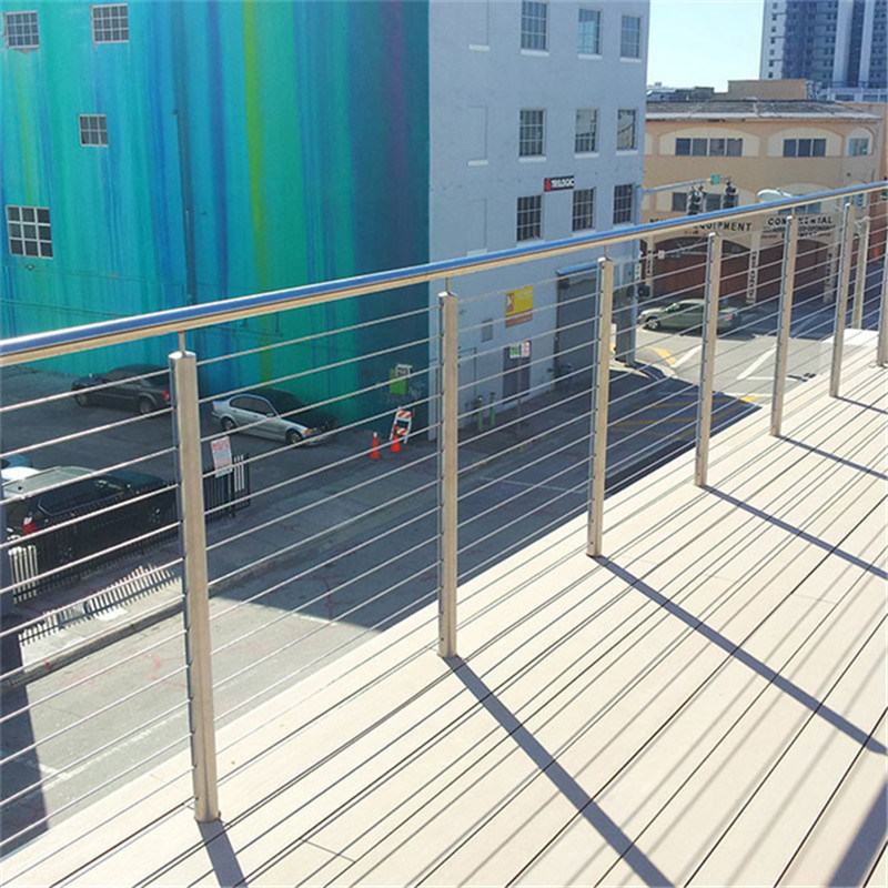 China Vertical Wire Balustrade Balcony Fence with Cable Nets Rod ...