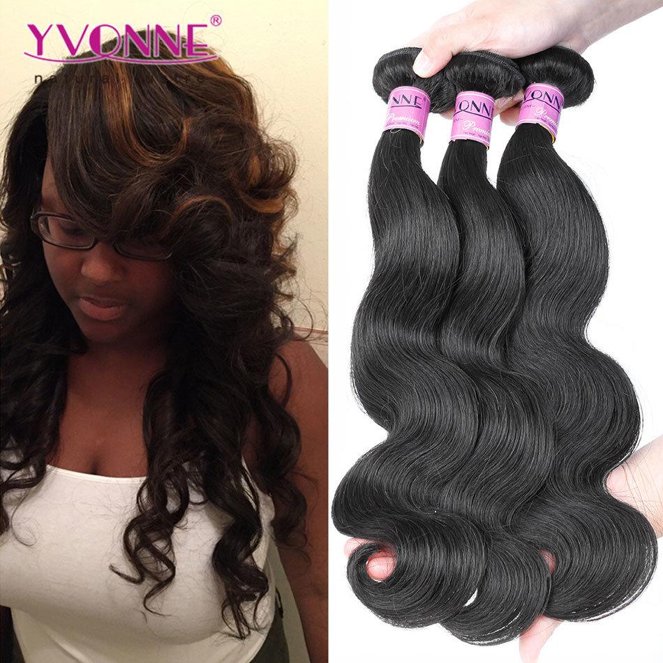 China Large Stock Brazilian Virgin Human Hair Weaving For Black
