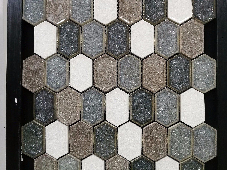 China Sector Shape Ceramic Glazed Mosaic Tile for Canada Market ...