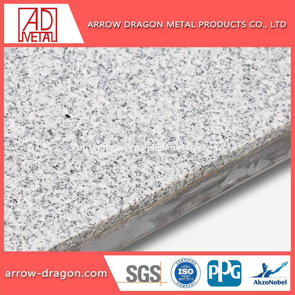[Hot Item] Granite Lightweight High Strength Stone Aluminum Honeycomb  Panels for Ceilings/ Soffit/ Roof Covering