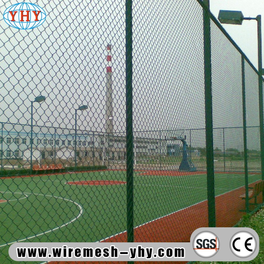 China Black Powder Coated Chain Link Fencing for Basketball