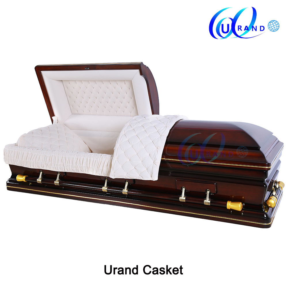 China American Style Solid Poplar Best Er Finishing Color Coffin And Casket Wooden Wood