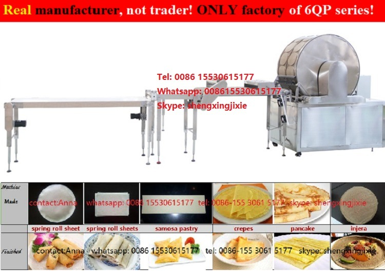 Best Selling Samosa Sheets Machine/Samosa Pastry Machinery/Spring Roll Sheet Machine/Injera Machine (manufacturer)
