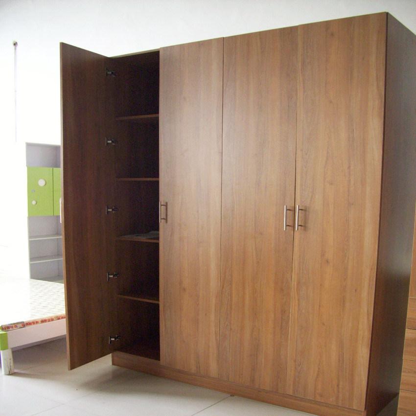Melamine Wooden Modern Bedroom Wall Wardrobe Design