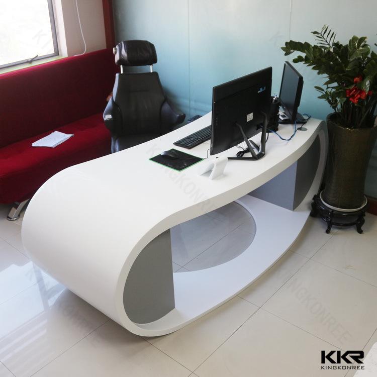Commerical Corian Desk White Stone Modern Office Table & China Commerical Corian Desk White Stone Modern Office Table Photos ...