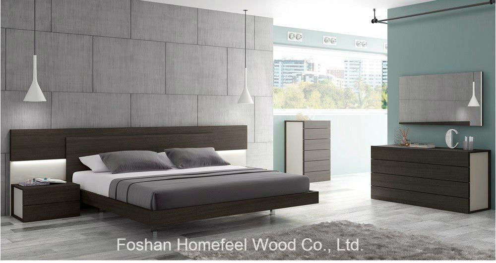 China 5 Piece Wooden Light Grey Lacquer Queen Size Bedroom Set China Bedroom Set Bedroom Furniture