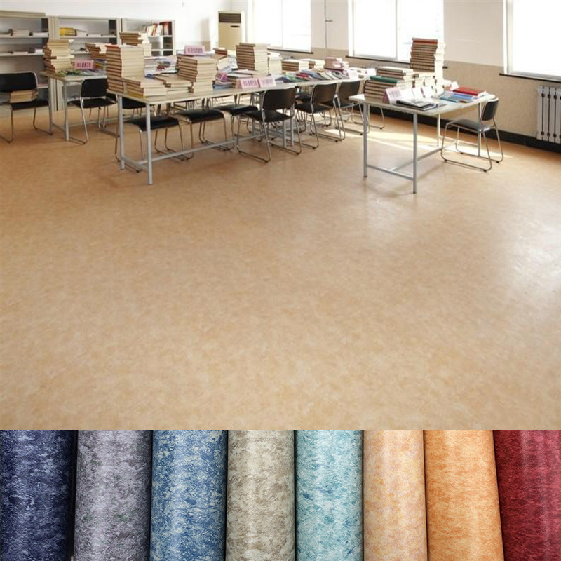 China Eco Friendly Indoor And Outdoor Pvc Vinyl Flooring Roll Covering Membrane Floor