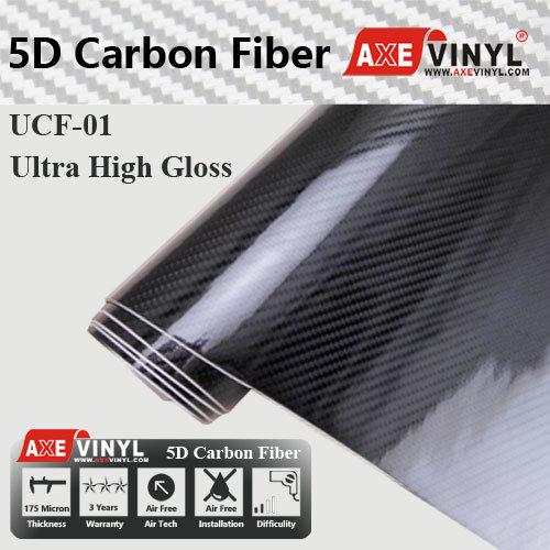 [Hot Item] Axevinyl Factory Direct Sale Car Wrap Vinyl Film Ultra Gloss 5D  Carbon Fiber Wrap Vinyl 1 52X20m