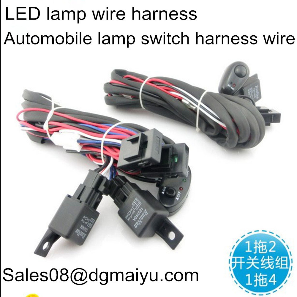 China 1 With 2 4 Working Lamp For Vehicle Switch Wiring Harness Group Modified Relay Led Wire Connector Auto Parts