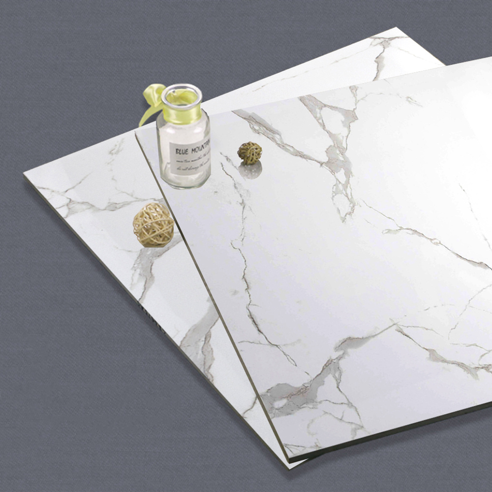China Italian White Marble Stone Cheap Ceramic Bathroom Floor Tile ...