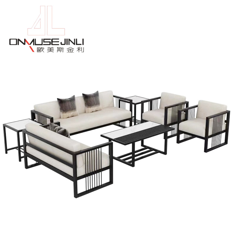Chinese Style Business Wrought Iron, Wrought Iron Sofa Set Designs