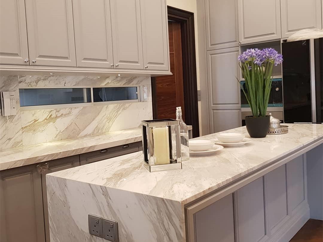 China Natural Volakas White Kitchen Marble Countertops For Interior Design China White Marble Volakas Marble
