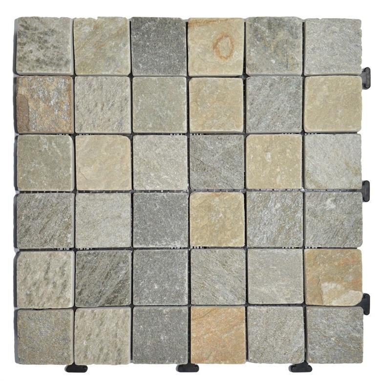 China Natural Slate Stone Mosaic Removable Flooring Tile China