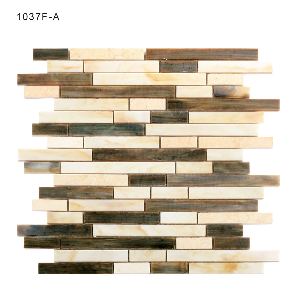 Hand Cut Eco-Friendly Material Kitchen Glass Mosaic Sheet Wall Tiles pictures & photos