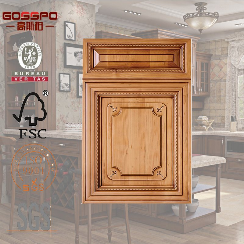 China European Style Carved Wood Panel Kitchen Cabinet Door Gsp5