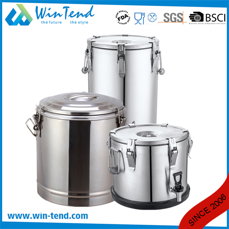 Stainless Steel Insulated Portable Food Container for Easy Trasport with Tap pictures & photos