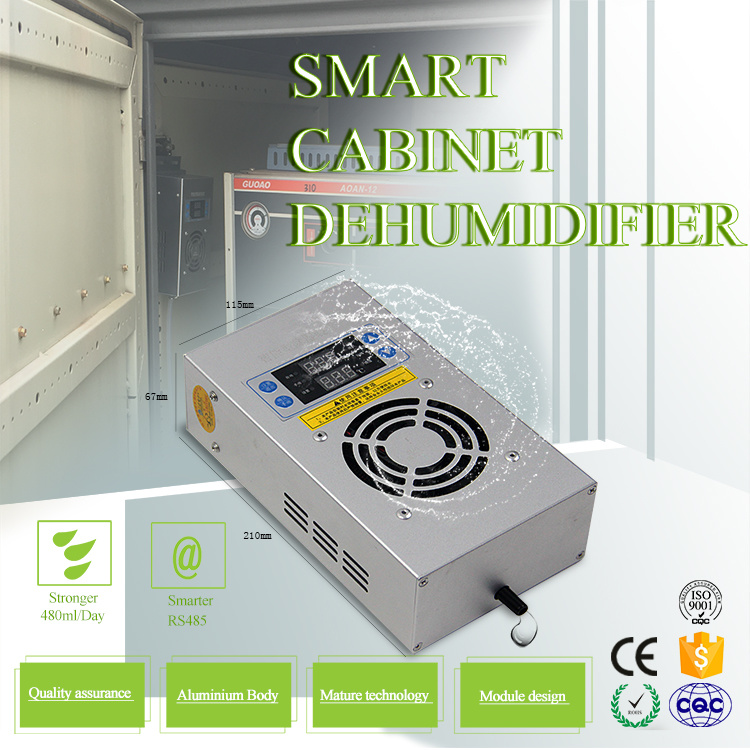 40W Aluminum Alloy Case Intelligent Dehumidifier for Outdoor Cabinet